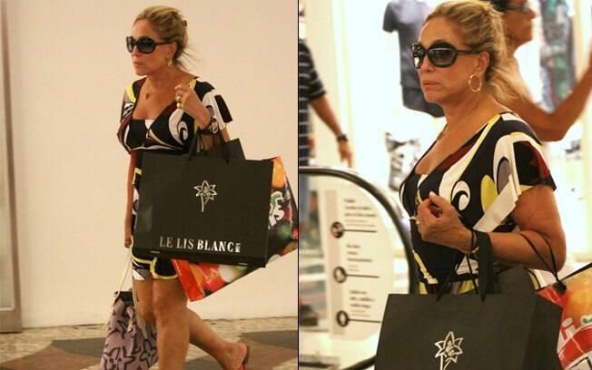 Susana Vieira no shopping Gávea