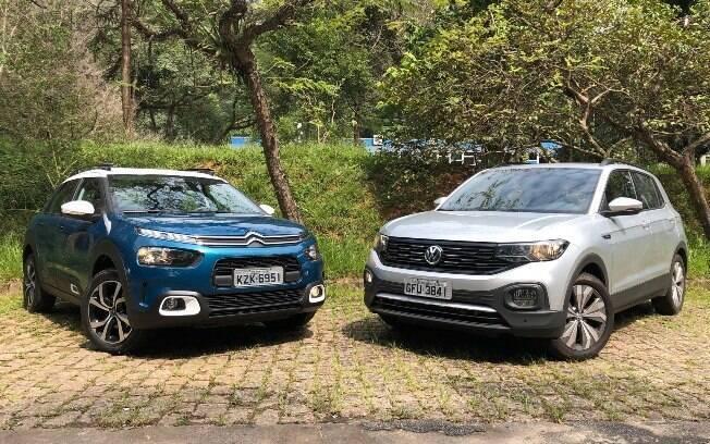 VW T-Cross e C4 Cactus compartilham algumas características pontuais na categoria dos SUVs compactos