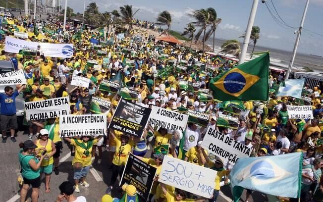Protesto contra Dilma Rousseff em São Luís (MA). Foto: Honório Moreira/Futura Press - 13.03.16