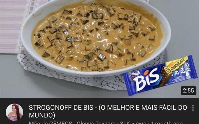 O estrogonofe de Bis é uma receita que simula o prato salgado