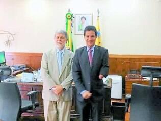 Investimentos.  Carlin Moura se reuniu com o ministro da Defesa, Celso Amorim em busca de benefícios