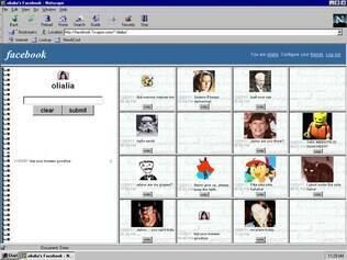 Como seria o Facebook se tivesse sido desenvolvido em 1997