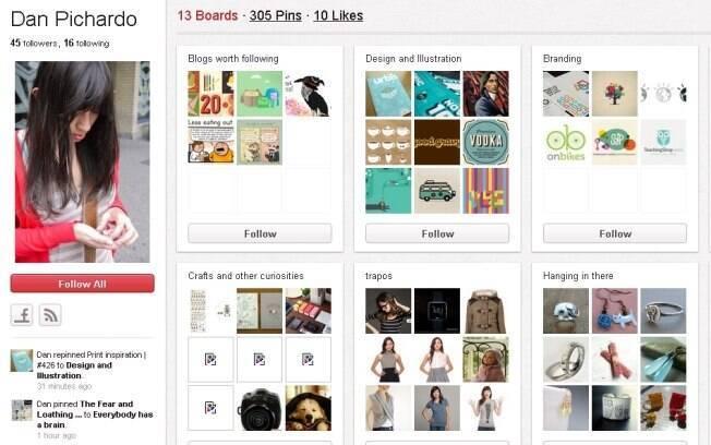 Murais do Pinterest são criados de acordo com interesses do usuário
