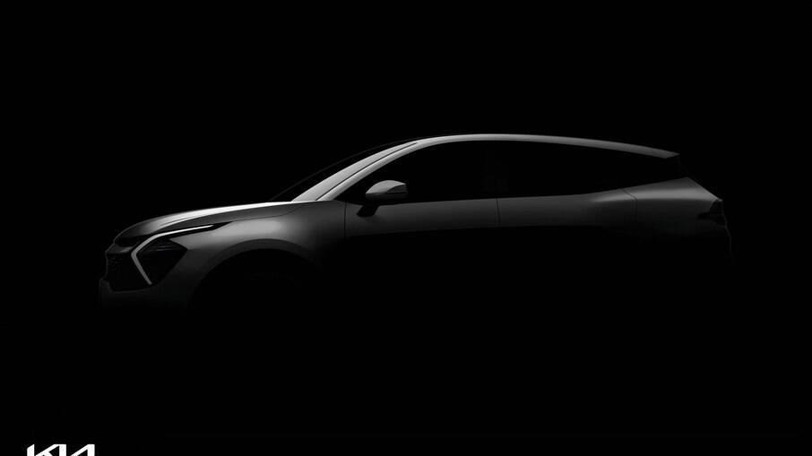 Kia Sportage 2022 terá desenho bem arrojado pelo o que já é possível notar pela imagem de teaser