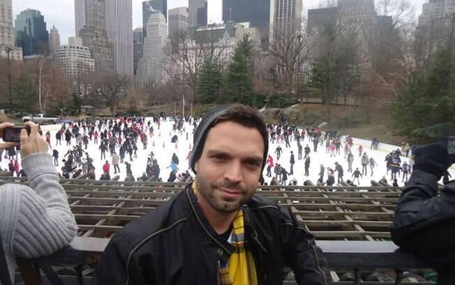 Anderson Vieira em Nova York: assumido desde os 16 anos, o brasileiro foi passar férias nos EUA e não voltou mais
