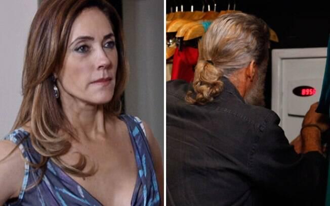 Tereza Cristina flagra Pereirinha mexendo no cofre da mansão, em Fina Estampa