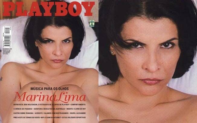 Marina Lima, nua aos 44 anos