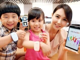 Na Coreia do Sul, LG lança pulseira inteligente para pais monitorarem seus filhos