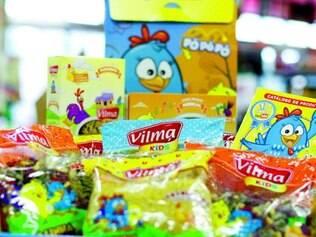 Vilma Kids é o lançamento da linha de macarrão infantil com licença da turma da Galinha Pintadinha