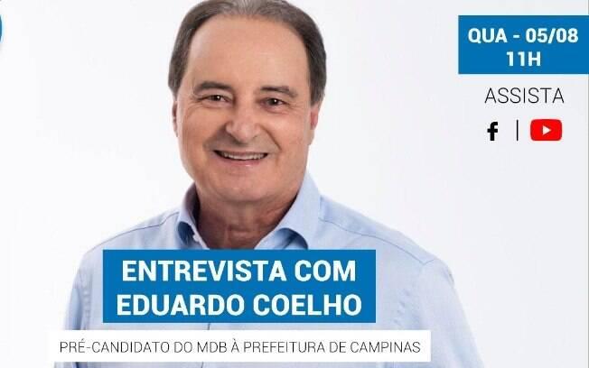 Eduardo Coelho é o entrevista do iG nesta quarta-feira (05).