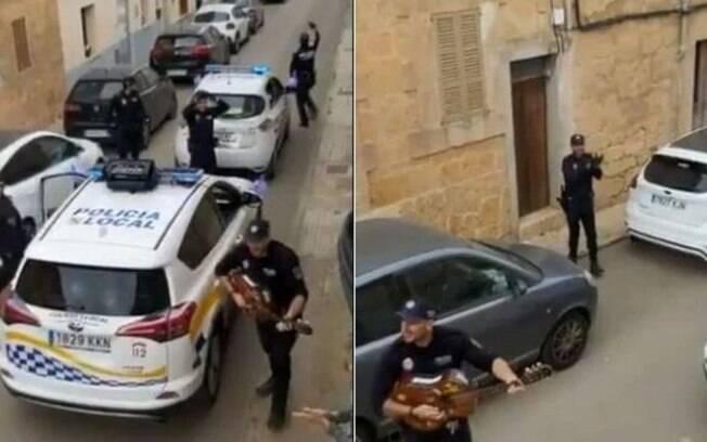 Em Mallorca, policiais animaram cidadãos em quarentena com música e dança