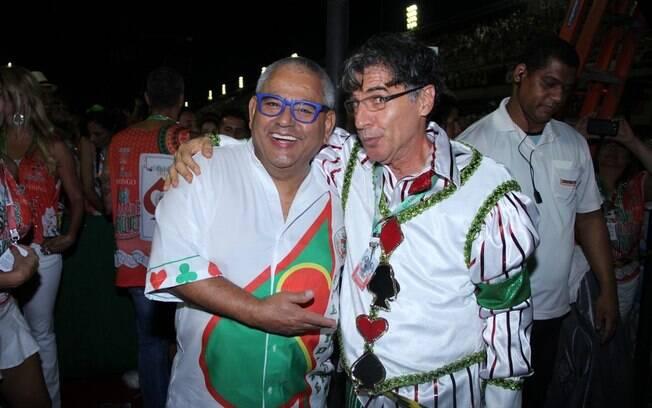 Paulo Betti (dir.) e Jayder Soares (esq.)