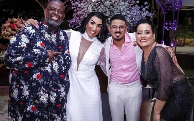 Péricles foi um dos padrinho de casamento de Pepita e Kayque Nogueira