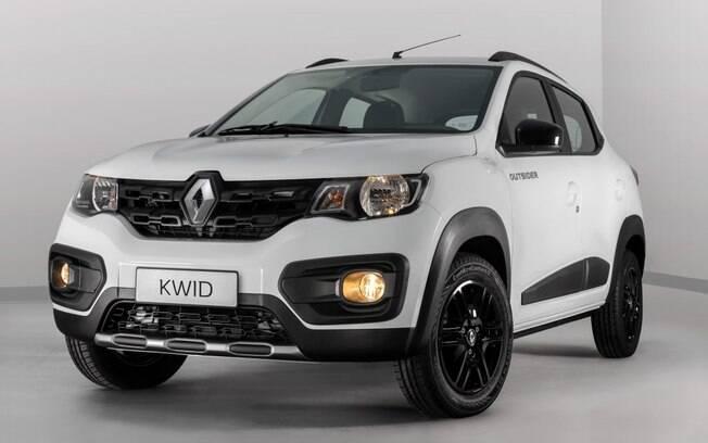 Renault Kwid Outsider segue a tendência aventureira do mercado e traz detalhes que reforçam a sua personalidade