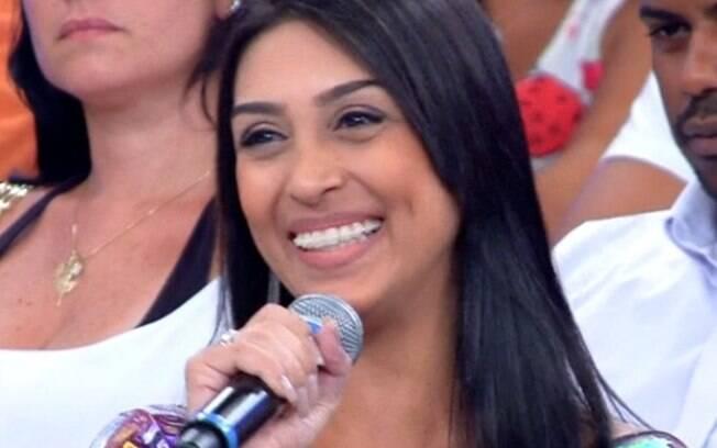 Amanda participou da plateia do programa 'Encontro com Fátima Bernardes' em 2014