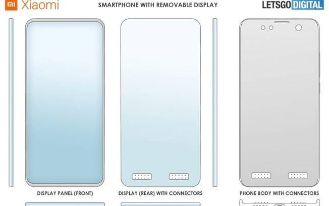 Patente revela celular da Xiaomi com tela removível