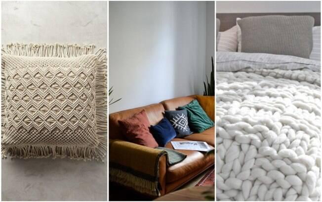As franjas, o couro e a lá são texturas versáteis que podem, inclusive, ser combinadas entre si na decoração da casa