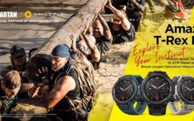 Smartwatch robusto de classe militar é o parceiro ideal para disputar a corrida de obstáculos de classe militar, a Amazfit faz parceria com a Spartan