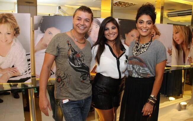 David Brazil posou ao lado das irmãs Rosana e Juliana