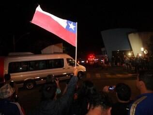 ESPORTES : BELO HORIZONTE - MG - TOCA DA RAPOSA . Chegada da Selecao Chilena em BH na Toca da Raposa ll.  FOTO: JOAO GODINHO O TEMPO / 05.06.2014