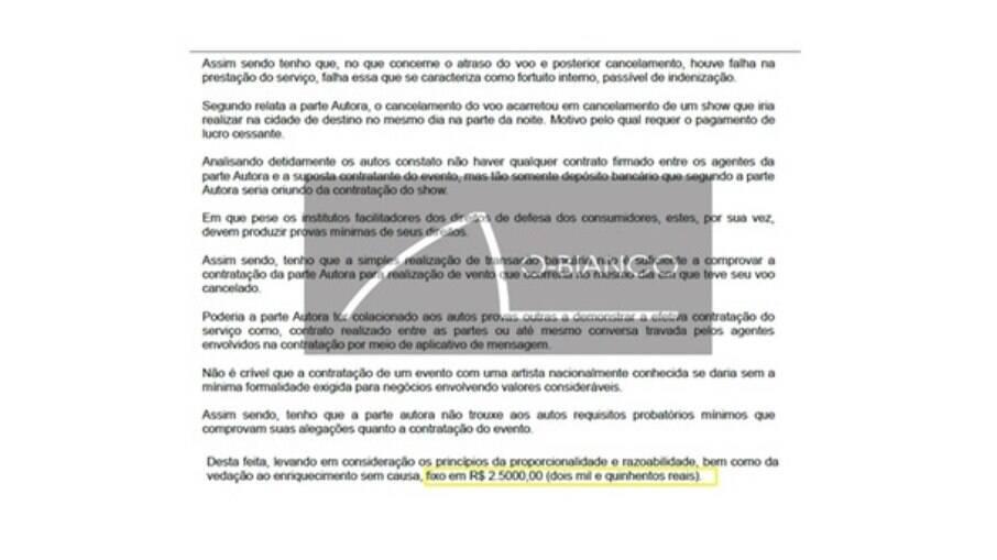 Recurso manteve apenas R$ 2.500 valor de indenização para Jojo Todynho. Cantora pedia R$ 15 mil