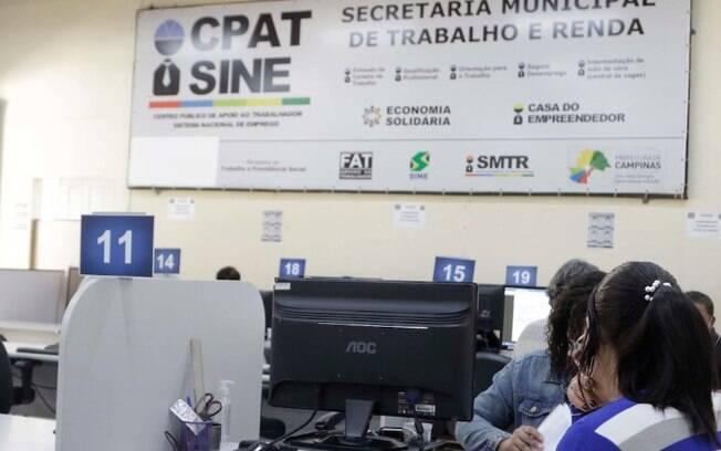 Campinas começa a semana com 109 vagas de emprego no Cpat