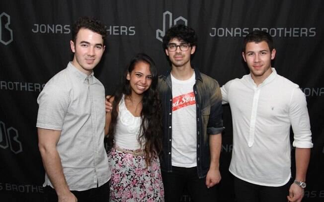 Amanda Regina com os Jonas Brothers