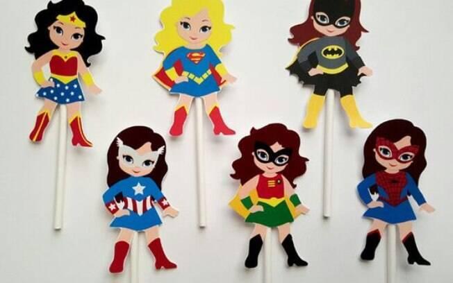 Meninas viram heroínas nesses desenhos