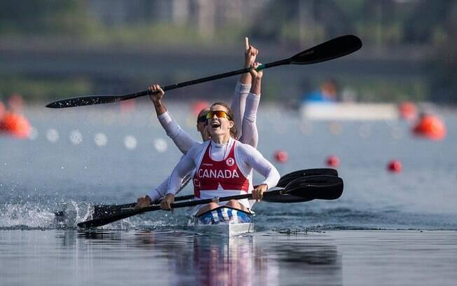 Canadenses da canoagem K4 500m feminino faturaram primeiro ouro do Pan