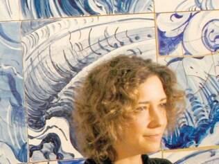 Adriana no pavilhão dedicado à sua obra e inaugurado em 2008