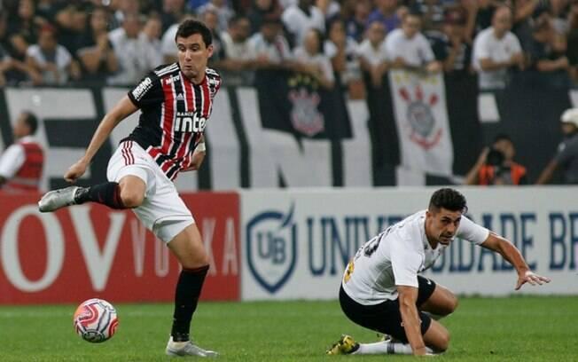 Pablo marcou o gol do São Paulo no clássico em Itaquera