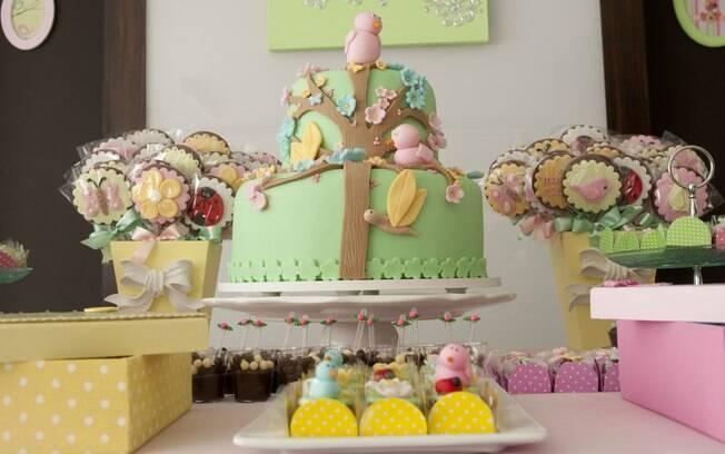 Passarinhos em tons pastel nunca saem da lista dos mais pedidos, especialmente para as festas das meninas pequenas