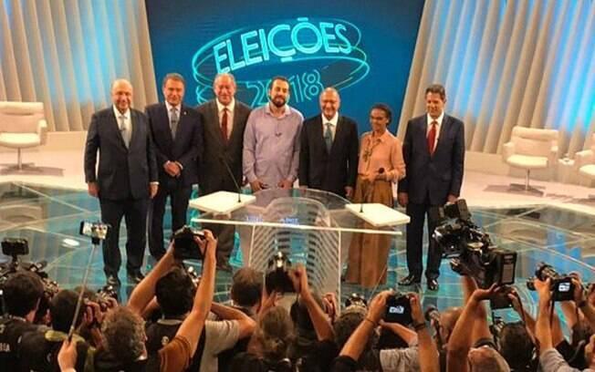 Debate na Globo conta com a participação de sete dos 13 candidatos à Presidência da República