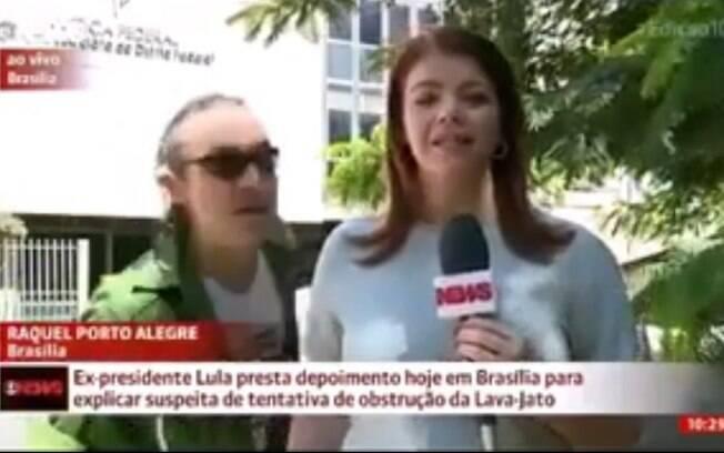 Em março, militante que hostilizou Alexandre Garcia invadiu link da GloboNews para chamar emissora de