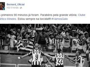 Bernard parabenizou time do Galo no Facebook
