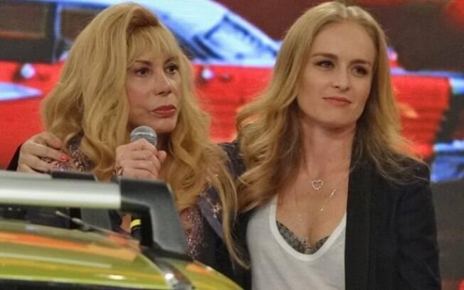 Arlete Salles e Angélica no palco do Caldeirão do Huck