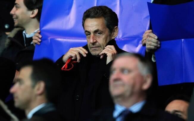 Nicolas Sarkozy presenciou a partida entre  PSG e Barcelona