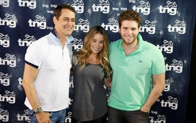 Danielle Winits, Marcello Antony e Thiago Fragoso no terceiro dia de Fashion Rio