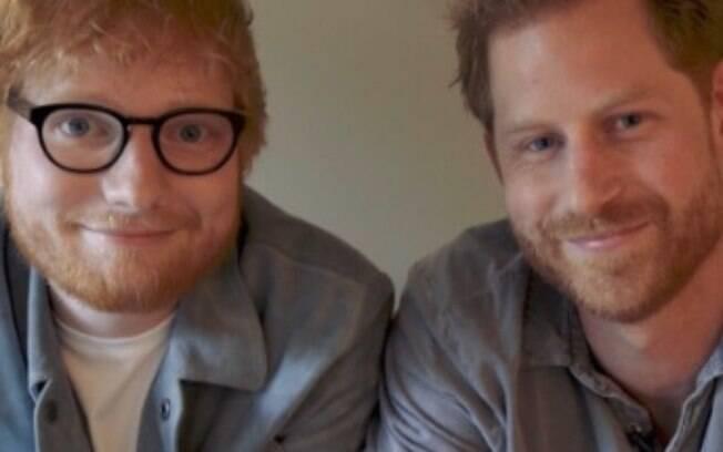 Ed Sheeran e príncipe Harry se unem em campanha para o Dia Internacional da Saúde Mental