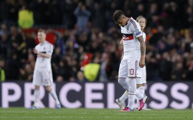 Boateng lamenta o resultado parcial do Milan  no Camp Nou