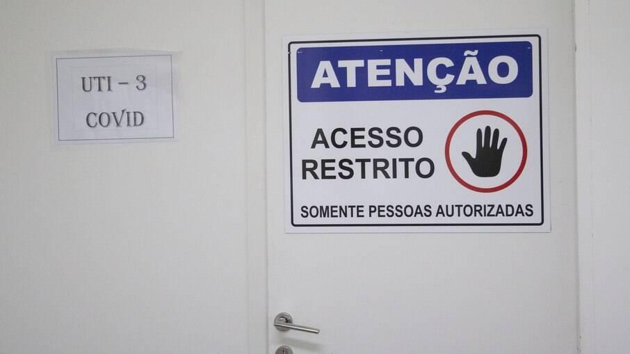 Acesso restrito em UTI para Covid-19 em São Paulo