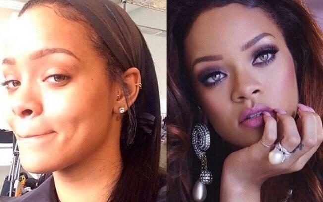 Até mesmo a Rihanna já deixou a maquiagem de lado