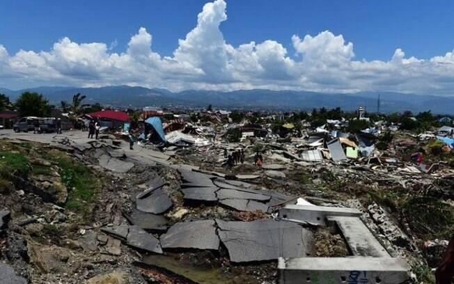 Na Indonésia, 1400 mortes foram causadas por desastres naturais