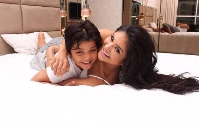Mileide Mihaile e Yhudy Lima, fruto do relacionamento com o cantor Wesley Safadão