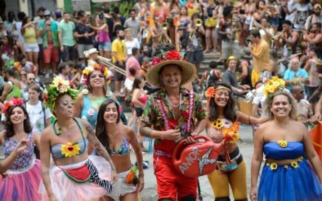 Foliões curtiram a abertura não oficial do carnaval 2018  no Rio de Janeiro