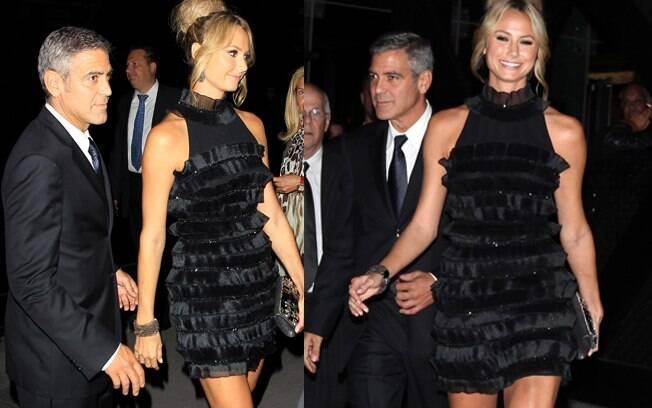 George Clooney apareceu pela primeira vez com a sua nova namorada, Stacey Keiber