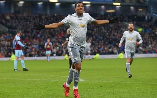 Anthony Martial fez o gol da vitória do Manchester United sobre o Burnley