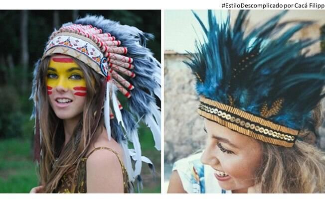 Nova versão, inspirada no Cocar Indigena, porém muito mais colorido e com flores