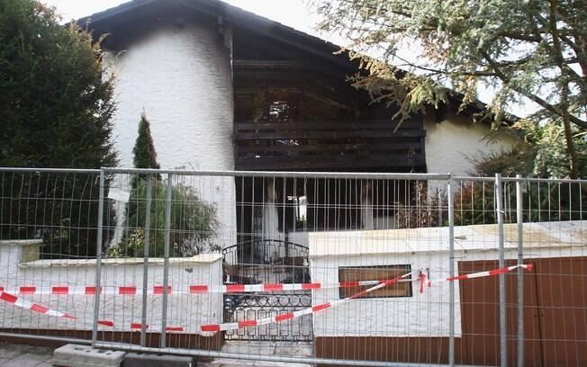 Casa de Breno após o incêndio