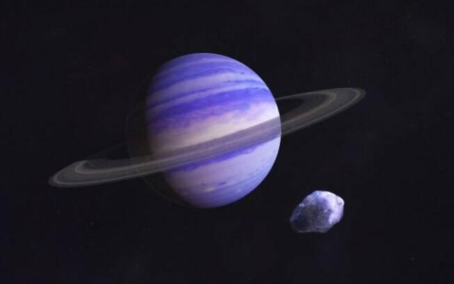 Concepção artística do GJ 15 A c: 20 anos para orbitar sua pequena e fria estrela